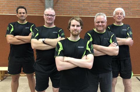Herren II: von links: Patrik Bölzle, Roland Rothe, Martin Losert, Volker Hohlfeld, Arthur Ebert (nicht abgebildet: Markus Mader)