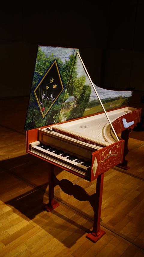 チェンバロ ー  記名F.A.1677に基づく、イタリアン・タイプ 1段鍵盤2列レジスター 8+8'  2016年永野光太郎製作