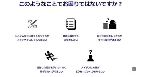 ホームページ作成ツールJimdo(ジンドゥ)で独自ドメインを使用しているMr.Right様の新ホームページ