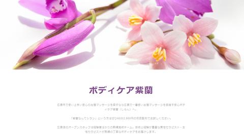 広島県広島市の出張ボディケア紫蘭様・AmebaOwnd版ホームページ制作実績