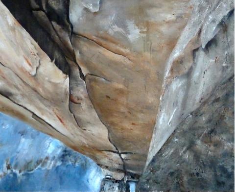Vertige (huile sur table 116x81cm)
