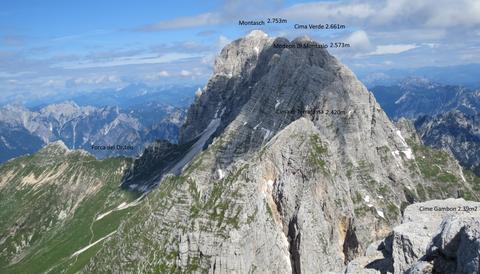Montasch Gipfel, Klettersteig, Normalweg