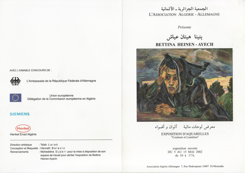 Invitation card German-Algerian society