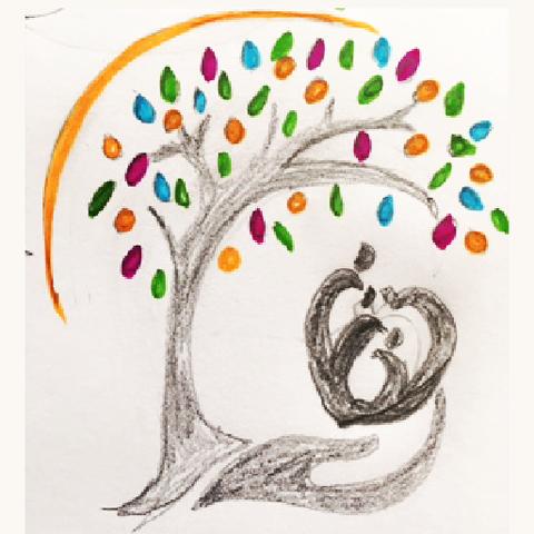 Client's sketch of desired logo style, logo designer North Devon, Design By Pie