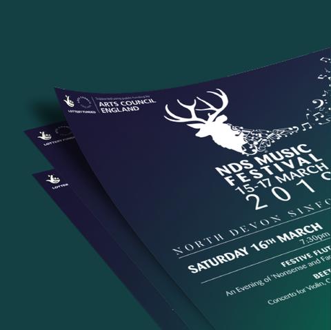 Norrth Devon Sinfonia Posters, Design By Pie, Freelnace Graphic Designer, North Devon