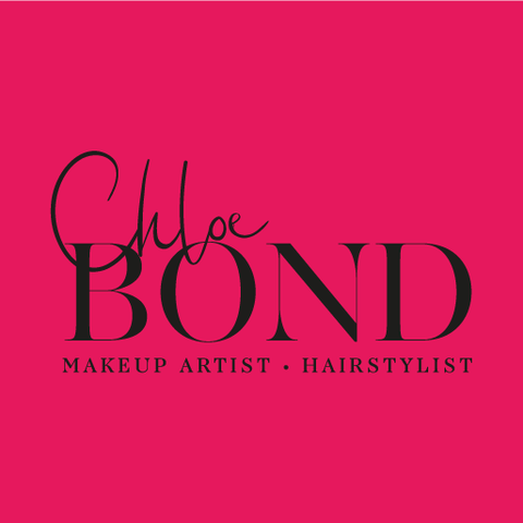 Chloe Bond Logo Black on Pink, Design By Pie, Logo Designer, North Devon