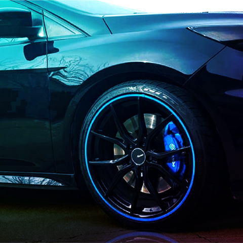 Rimsavers alloy wheel rim protector customer image edited by Design By Pie, North Devon