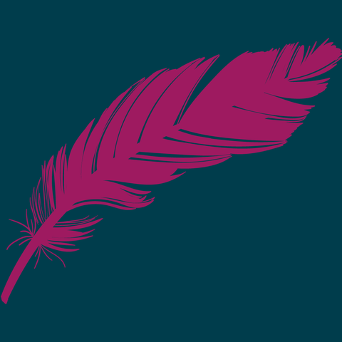 SME Marketeers logo design project intro graphic with feather