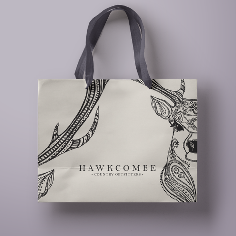 Hawcombe Country  Outfitters graphic design project teaser, Design By Pie, North Devon