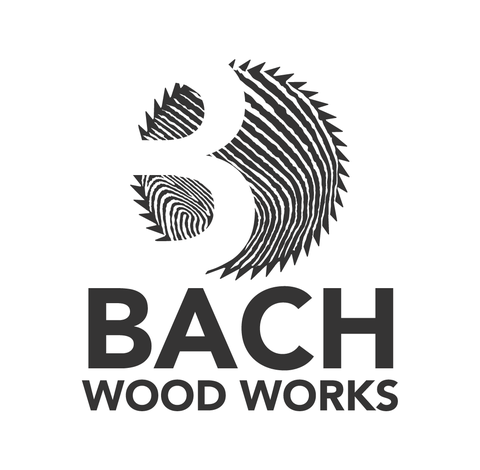 Bach Woodworks one colour logo by Design By Pie, Logo Designer North Devon