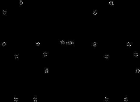 Bläuungsreaktion der Variegatsäure. (Klick ins Bild führt zu einer vergrößerten Darstellung.)