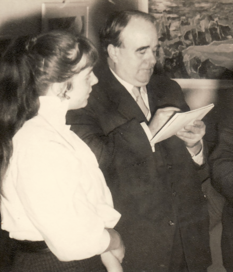 Erwin Bowien with his master student Bettina Heinen-Ayech in 1955
