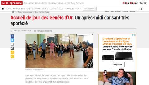 Danse active avec les résidents de Poul ar Bachet