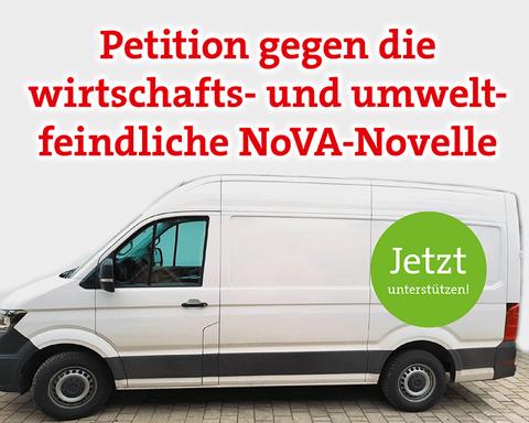 Petition gegen die wirtschafts- und umweltfeindliche NoVA Novelle