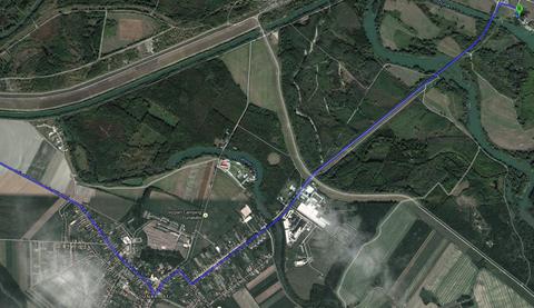 Weg in Dunakiliti