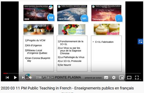 Keshe Foundation Spaceship Institute - Enseignement public en Français