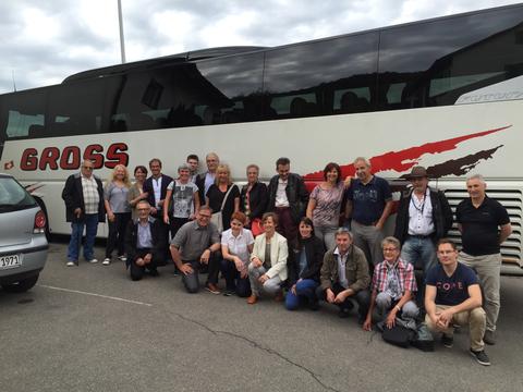 Unsere Helfer in Stuttgart mit Claudia unserer Super Chauffeuse von GROSS REISEN