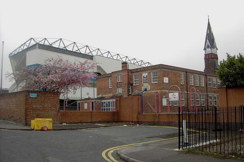 St Andrews School in Ada Road with Birmingham City football ground behind