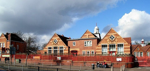 Acocks Green School viewed from Westley Road