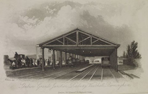 Vauxhall Station. Image, source unknown but believed to be now out of copyright, downloaded from Wikipedia. See Acknowledgements for a link to that website.