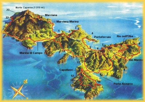 Elba Is.. map.