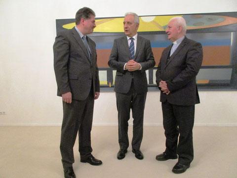 Winfried Gburek, Ministerpräsident Stanislaw Tillich, Sachsen, und Bischof Dr. Franjo Komarica.