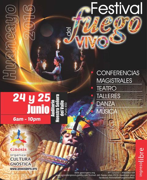 Festival del Fuego Vivo 2016 Huancayo Perú