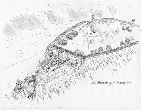 Rekonstruktionszeichnungen von Wolfgang Braun