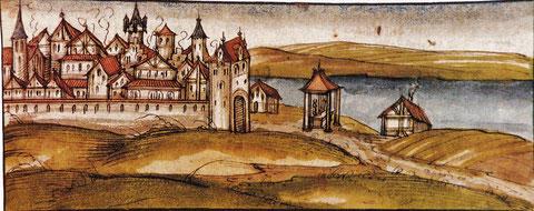 Schweinfurtbild von 1397; Original: Stadtarchiv Würzburg
