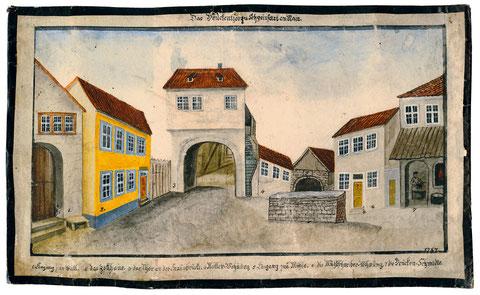 Aquarell aus dem Jahre 1787 - Gesamtansicht - bitte vergrößern!