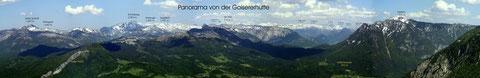 Panorama Totes Gebirge von der Goiserer Hütte