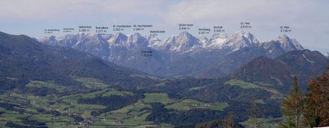 Panorama Totes Gebirge vom Kleinerberg bei Winsichgarsten