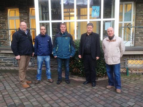 v.l.n.r.: Peter Gras, Andreas Nick, Sascha Minning, Dr. Walter Bersch, Norbert Bock