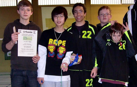 Gewinner der Herzen (v.l.n.r.): Louis Westermann, Tu Nguyen, Alexander Stober, Dennis Wipper u. Nico Krimmel