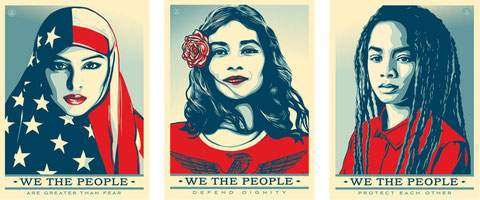 Shepard Fairey We the People 2017