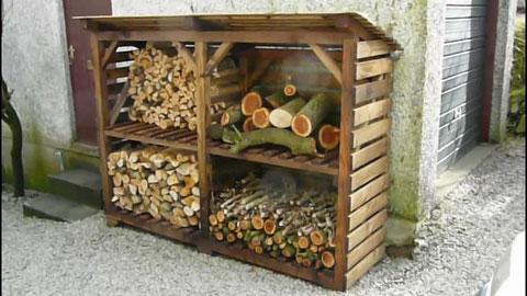 Дровница(поленница) деревянная