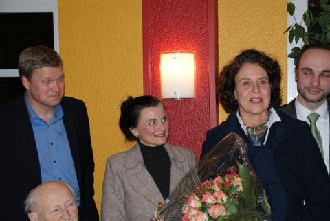 Ulf Thiele (MdL), Gitta Connemann (MdB), Beatrix Kuhl, Patrick Engel (Kreisvorsitzender)