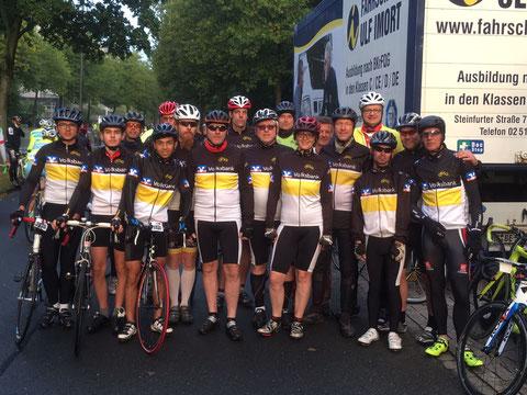Bestens gelaunt und mit guten Ergebnissen rollten die Giroteilnehmer der RSG-Warendorf-Freckenhorst ins Ziel.