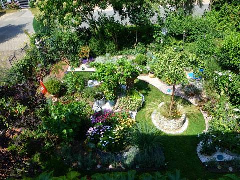Kies-Garten von oben