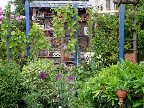 Insektenhotel, Weinspalier und Mediterraner Garten