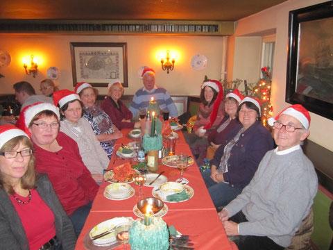 Auf der Weihnachtsfeier im Kartoffelkeller 2012