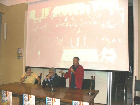 da sx il presidente Franco Palasciano, il sindaco Stacca e l'assessore Saponaro
