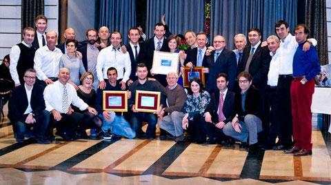 Foto di gruppo con i premiati