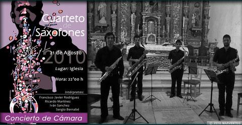 concierto cuarteto saxofones galera