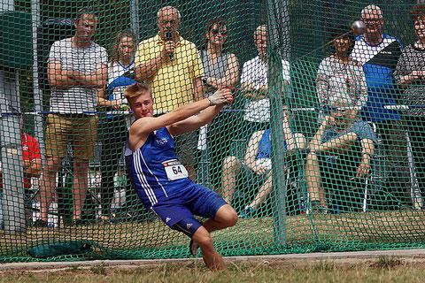 Gerrit Vißer vom LAZ Rhede wird bei den deutschen U20-Meisterschaften im Hammerwurf mit 55,60 Metern Zehnter. Sein Ziel, den Endkampf, verpasst er knapp. (Archivfoto)