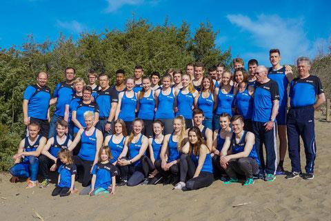 Die LAZ-Athleten und -Trainer genossen in der Toskana die intensive  Vorbereitung auf die kommende Freiluftsaison. (Foto: Roman Buhl)