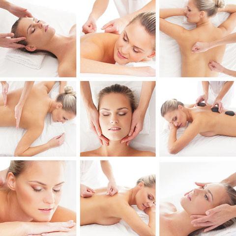 verschiedene Massagetechniken im Massagefachinstitut Wohlgemuth in Linz