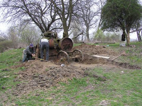 Bergung Schlick Nicklson Lokomobile Serbien.