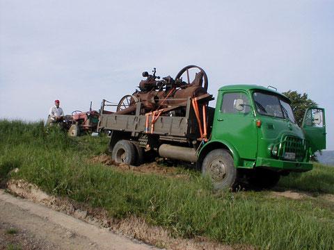 Serbien 2003 Steyr 680 mit HSCS Lokomobile.