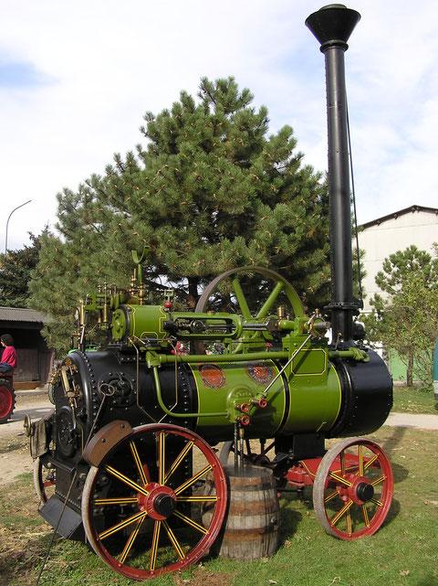 Landwirtschaftliche Fachschule Obersiebenbrunn  2006, Ruston & Hornsby Lokomobile 1925.